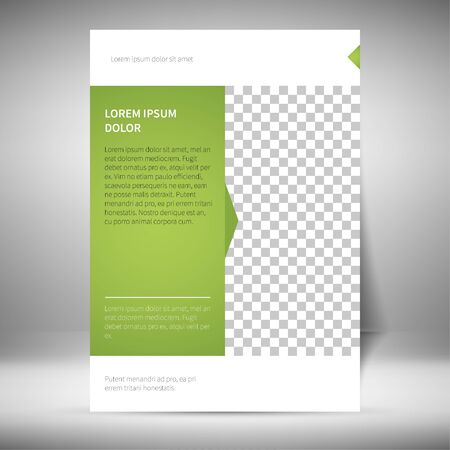 layout: Flayer Layout Template Illustration