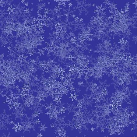 Seamless Snowflake Pattern Illusztráció