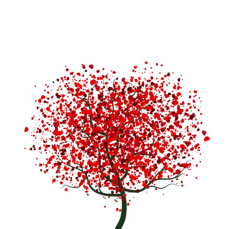 tree texture: Hearts Tree for Valentines Day