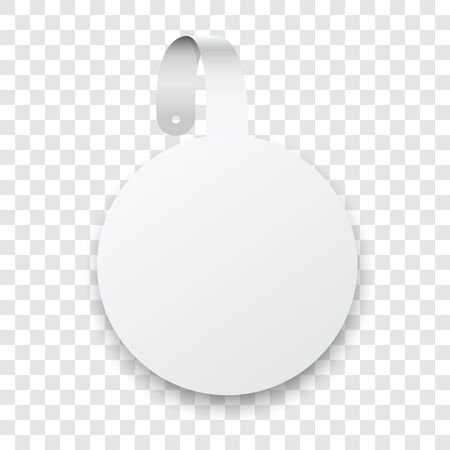 round: White Wobbler Illustration