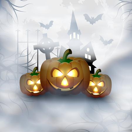 Halloween Background Vector illustration. Illustration