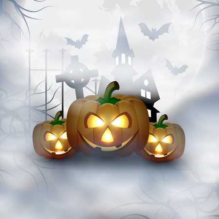 Halloween Background Vector illustration. Illustration