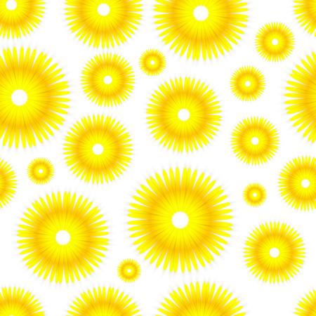 Seamless Sunflowers Background