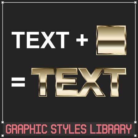 Vector Golden Graphic Styles Çizim