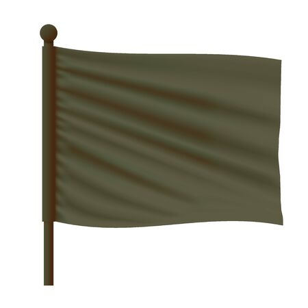 Green Wavy Flag Mockup