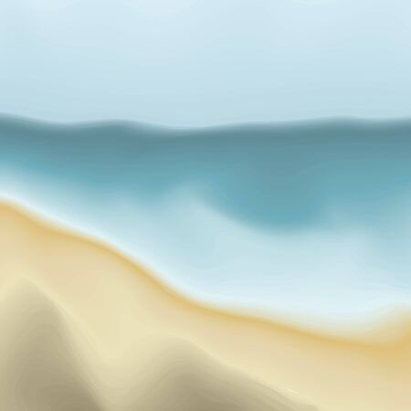Vector Beach Sand and Water Abstract Painting Background