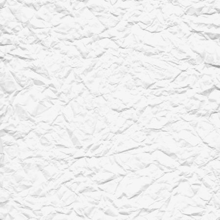 Vector Crumpled White Paper Texture