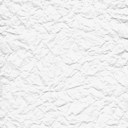 Vector verfrommeld wit papier textuur Vector Illustratie