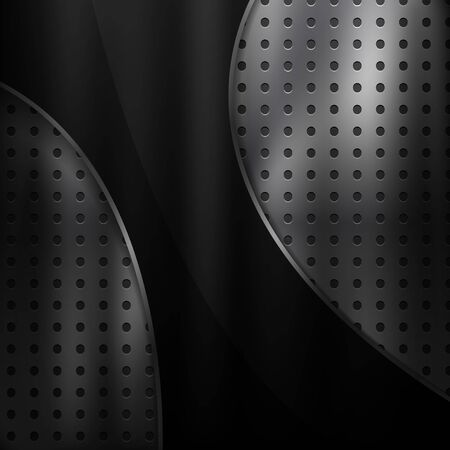 Abstract Vector Metal Background with Black Design Element  イラスト・ベクター素材