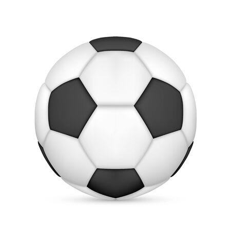 Black and White Vector Soccer Ball
