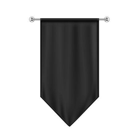 Black Hanging Flag Mockup
