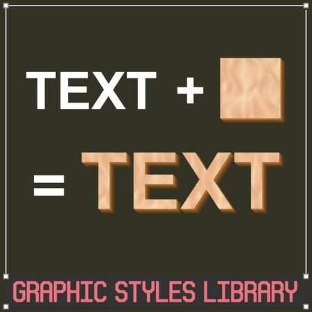 Wooden Vector Graphic Styles