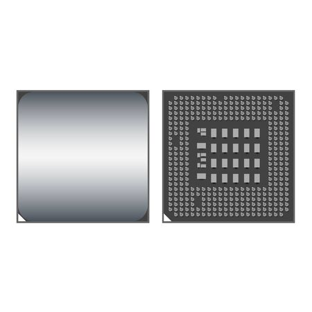 Vector Cpu Icon Front and Back Иллюстрация