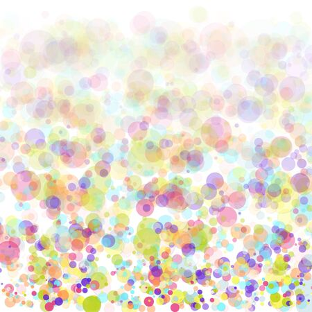Vector Birthday Party Background with Colorful Flying Paper Confetti Illusztráció