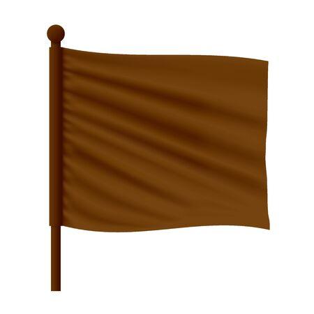 Wavy Flag Mockup