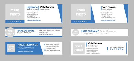 Professional Email Signature Templates Collection 矢量图像