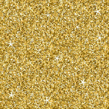 Texture transparente de lumières scintillantes de paillettes dorées