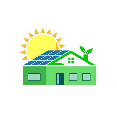 Solar Energy House Concept Icon