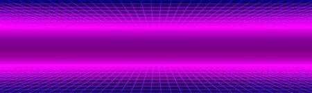 Neon Retro Banner Illustration