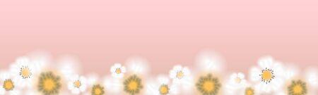 Spring Floral Blossom on pink Illustration