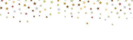 Falling Stars Confetti Birthday Card Banner Illustration