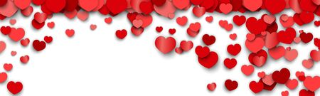 Valentines Day  Design with Heart Stickers Scattered