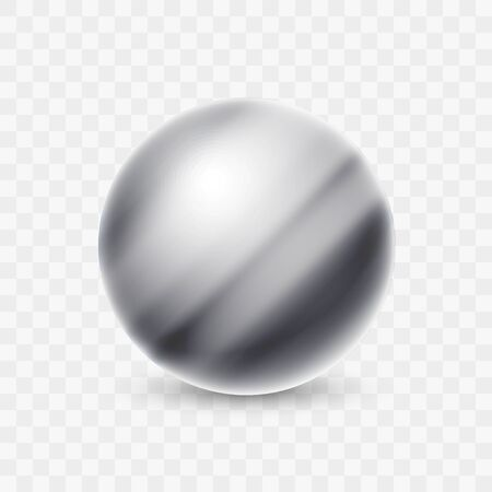 Abstract Vector Metal Sphere Ball Icon Logo Illustration