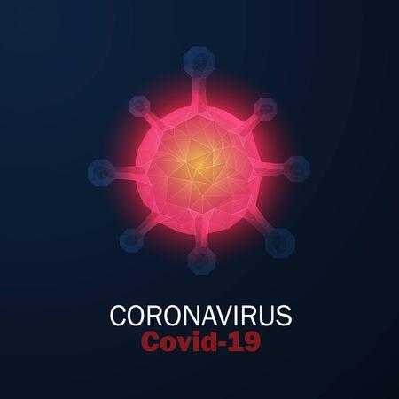 Virus Strain Model of Novel Coronavirus Covid-19. Illustration
