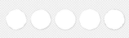 Grunge Edge Circle Shapes design on white