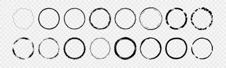 Grunge Circle Shapes design 일러스트