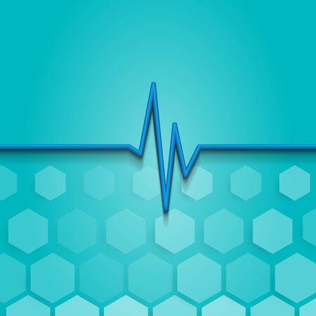 Geometric Hexagons Medicine Pulse Heart Beat