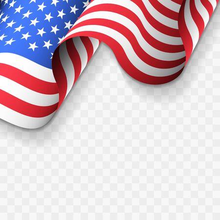 Wavy American Flag Design Illustration