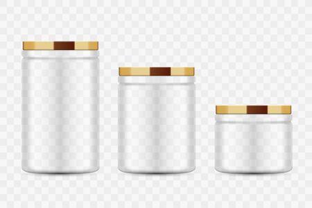Set of Vector Glass Food Jars design