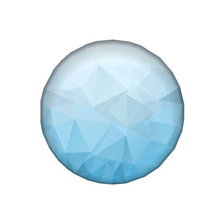 Low Poly Circle Logo design