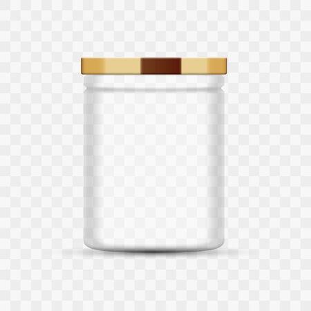 Empty Glass Food Jar