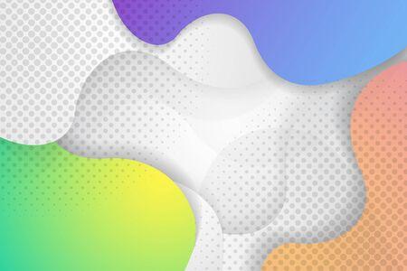 Modern Elegant Halftone design Illustration