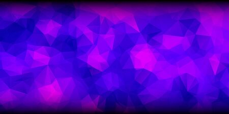 Blue and Purple Colors Polygonal Banner