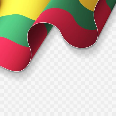Waving flag of the Lithuania 일러스트