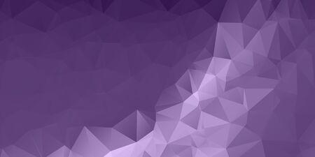 Purple Triangular Polygonal Banner