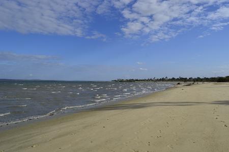 beach ocean indico in the background blue sky