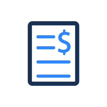 Attractive and Faithfully Designed Invoice Icon Ilustração
