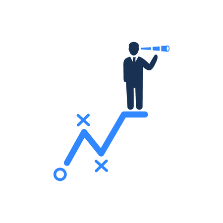 Attractive and Faithfully Designed Businessman Vision Icon