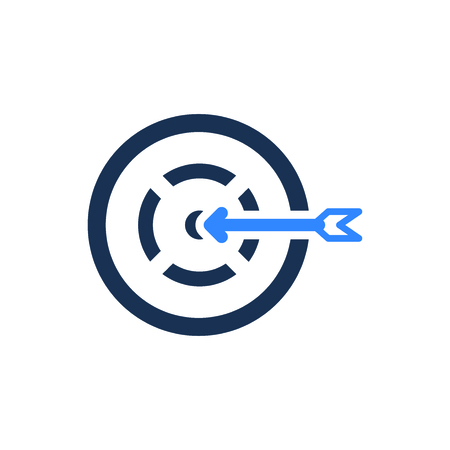 Attractive and Faithfully Designed Business Target Icon 向量圖像