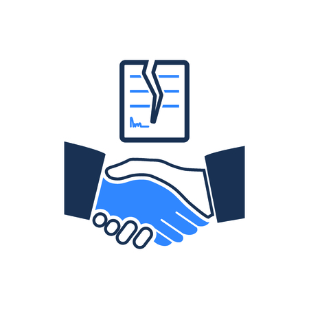 Attractive and Faithfully Designed Cancel Agreement Icon Illustration