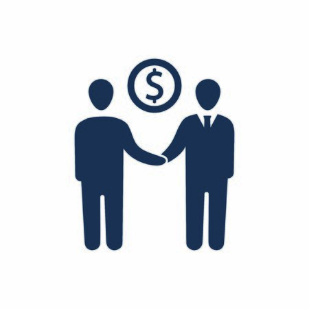Attractive and Faithfully Designed Business Deal Icon
