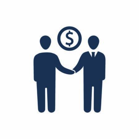 Attraktives und originalgetreu gestaltetes Business-Deal-Symbol