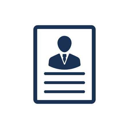 Attractive and Faithfully Designed Candidate Resume Icon