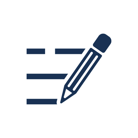 Attractive and Faithfully Designed Writing Icon Illustration