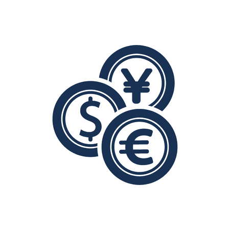 Attractive and Faithfully Designed Exchange Money Icon 矢量图像
