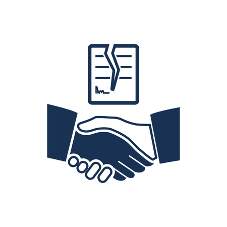 Attractive and Faithfully Designed Cancel Agreement Icon Ilustracja